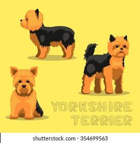Dog Yorkshire Terrier Cartoon Vector Illustration