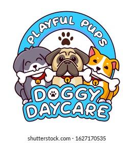 doggy daycare puppy vet logo