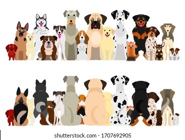 dogs big group set, front and back