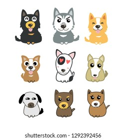 dogs cute set