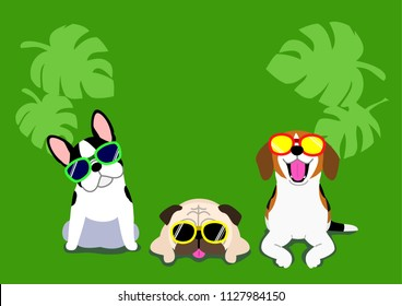 dogs with glasses background