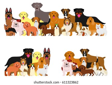 dogs group border set