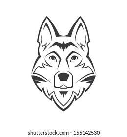 Dog's head vector symbol on white background