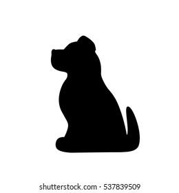 dog's icon on white background, dog vector,