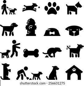 Dogs and puppy icons