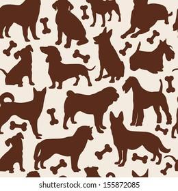 Dogs seamless pattern.