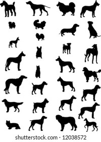 dogs silhouettes 3