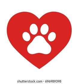 狗的轨道在心脏