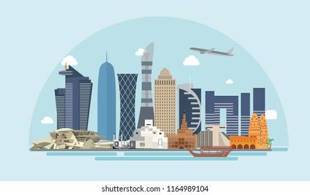Doha - Qatar Landmark Buildings