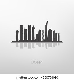Doha skyline, Qatar capital skyline.