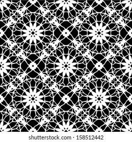 Фотообои Doily / Lace ornamental, snowflake seamless background, wedding pattern, embroidery elements, vector illustration