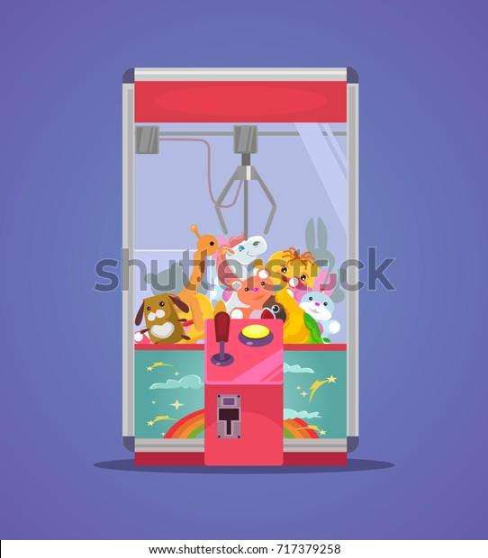 Doll Machine Vector Flat Cartoon Illustration Stock Vector