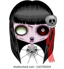 Doll Zombie Creepy Halloween Monster