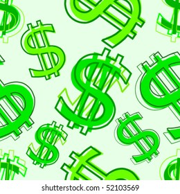 Dollar abstract seamless background.