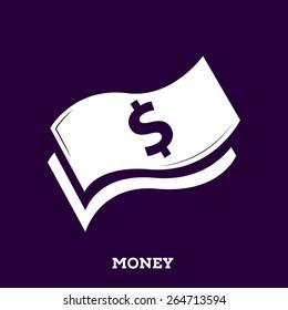 dollar bill isolated. vector illustration