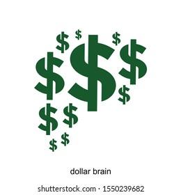 dollar brain vector illustration ready to use