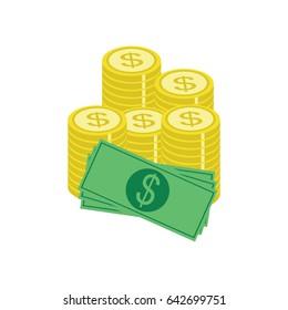 dollar cash coins icon