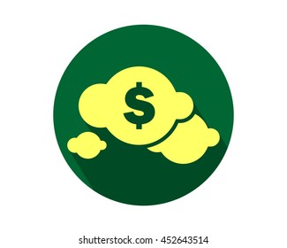dollar cloud currency finance money price image vector icon symbol