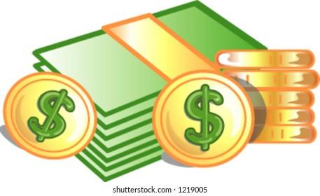 Dollar & coins icon