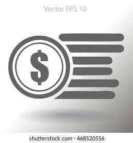 dollar coins vector illustration