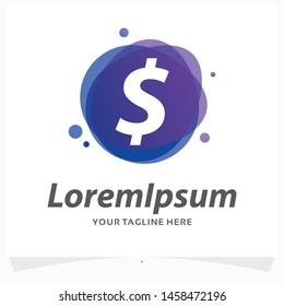 Dollar Currency Symbol Logo Design Template