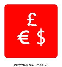 Dollar, Euro and Pound icons.