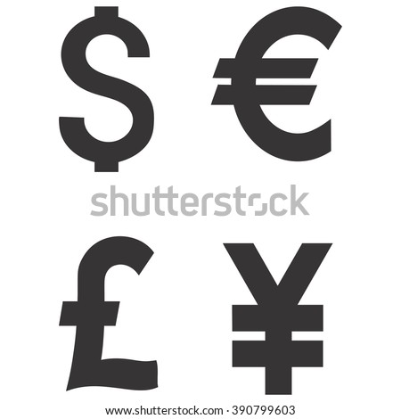 symbol for euros and pounds