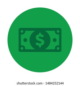 Dollar icon. Cash concept. Vector illustration.