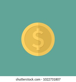 dollar icon flat design