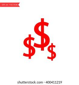dollar icon isolated