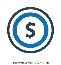 Dollar icon. pay vector graphics.