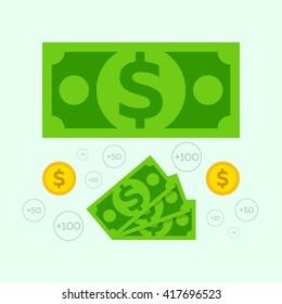 Dollar and monets flat
