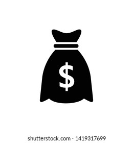 Dollar Money Bag  Icon Vector