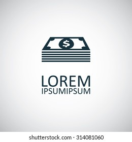 dollar pack Icon Vector.