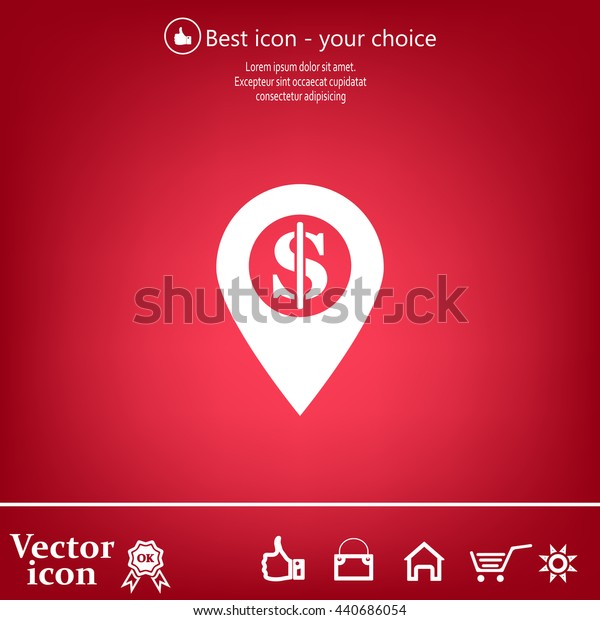 dollar pin icon