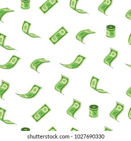 Dollar rain pattern vector illustration