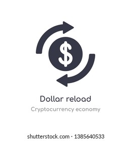 dollar reload icon. isolated dollar reload icon vector illustration from cryptocurrency economy collection. editable sing symbol can be use for web site and mobile app