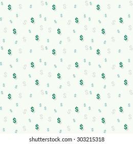 Dollar seamless pattern. Vector illustration.