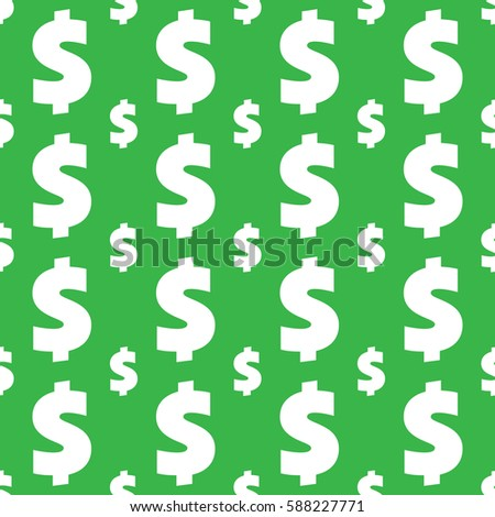 Dollar Sign Seamless Pattern Wrapping Background Stock Vector