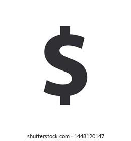 Dollar sign. Dollar symbol. Vector money symbol. Bank payment symbol. Color easy to edit. Transparent background.