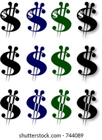 dollar sign variations