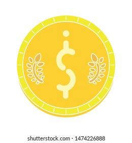 dollar symbol icon. flat illustration of dollar symbol vector icon. dollar symbol sign symbol