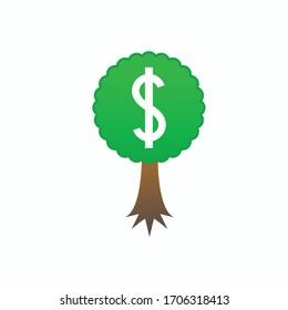 Dollar tree flat icon template