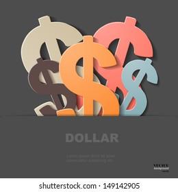 Dollars, eps 10