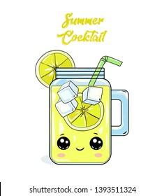 Dolls lemon cocktell summer. Lemon cocktail. Summer ice glass joy cute eyes loli