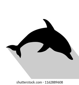 Dolphin black on a white background