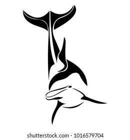 dolphin fish logo