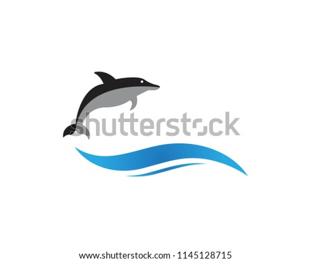dolphin fish logo vector template stock vector royalty free