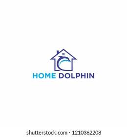 Dolphin Home  Home Dolphin Logo Template