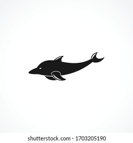 Dolphin icon. isolated on white